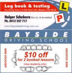 Discount voucher for new driving school students