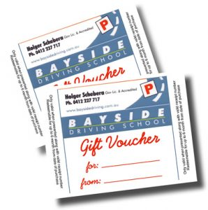 Bayside Driving School gift vouchers
